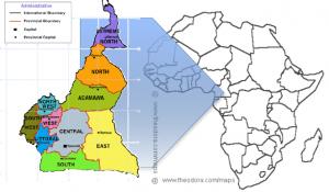 camerun cartina
