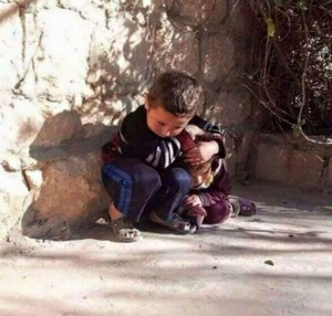 sister and brother in syria